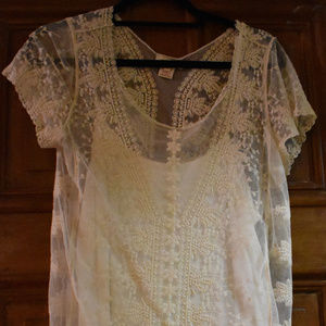 Beautiful white lace top from sundance.